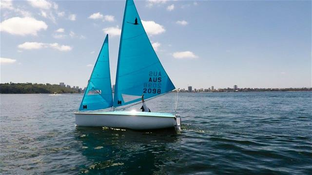 Tracey Odiam in her Hansa sailing dinghy